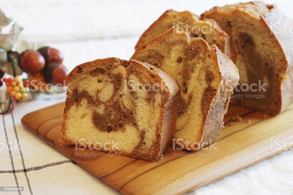 Coffee Marble Pound Cake stock photo
