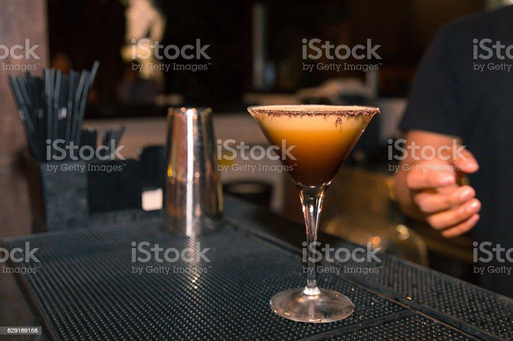 Coffee martini to start the weekend stock photo