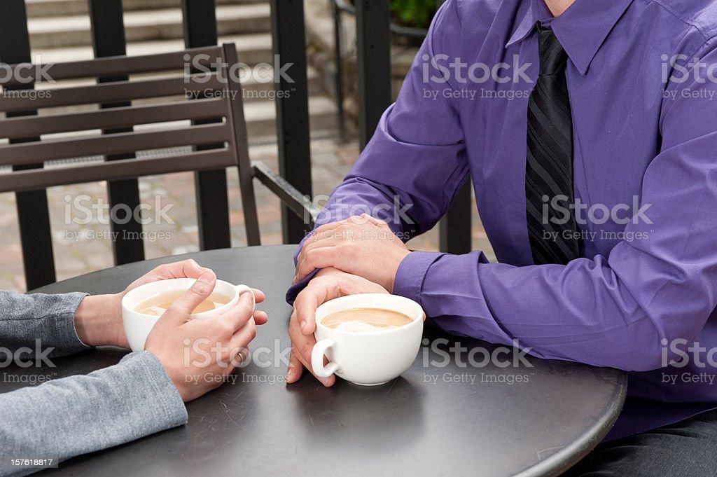 Coffee meeting royalty-free stock photo
