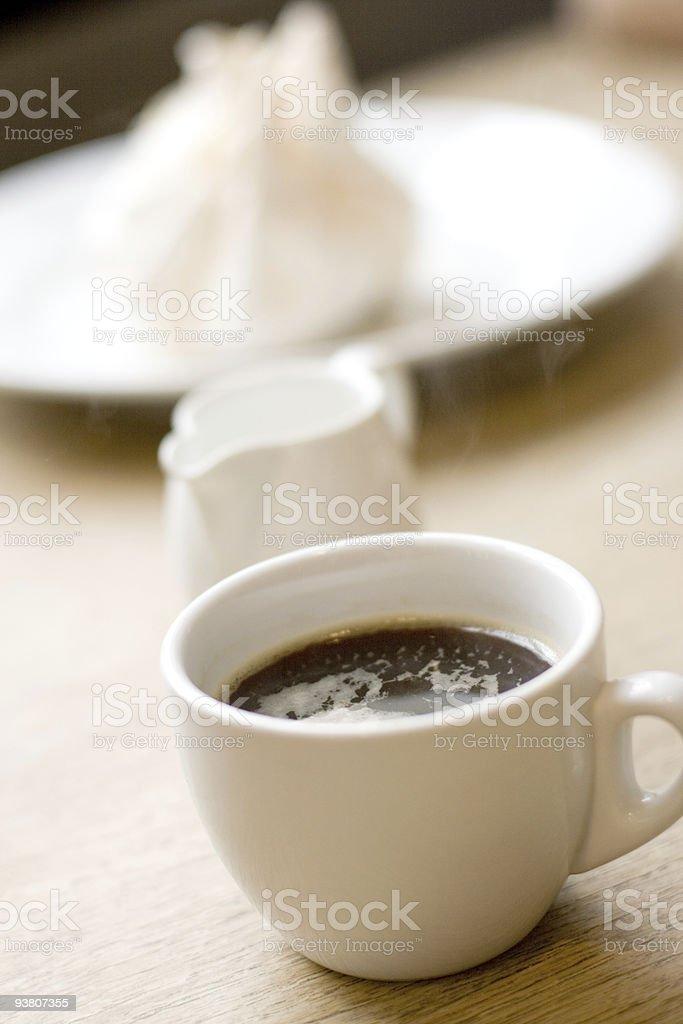 coffee, milk and meringue royalty-free stock photo