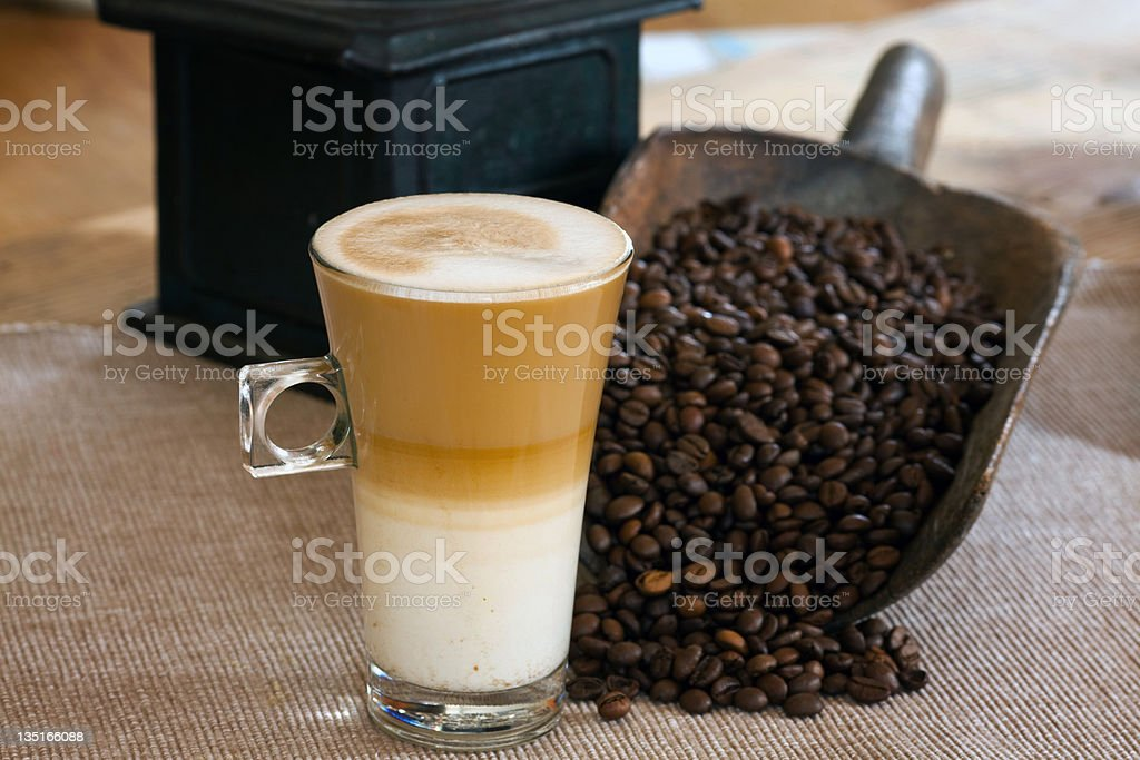 Latte Caffe royalty-free stock photo