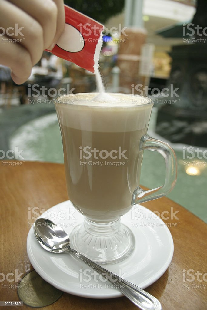 Caffe Latte royalty-free stock photo
