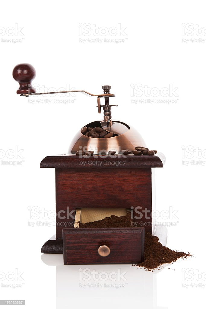 Coffee mill isolated. royalty-free stock photo