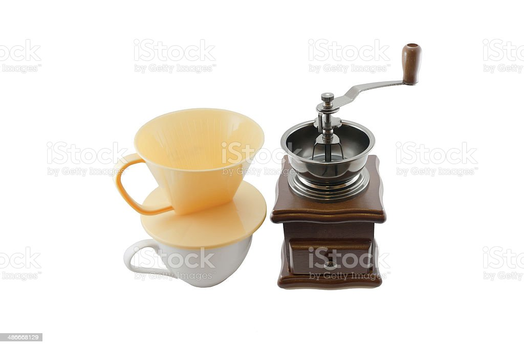 Coffee Mill with Cup stock photo