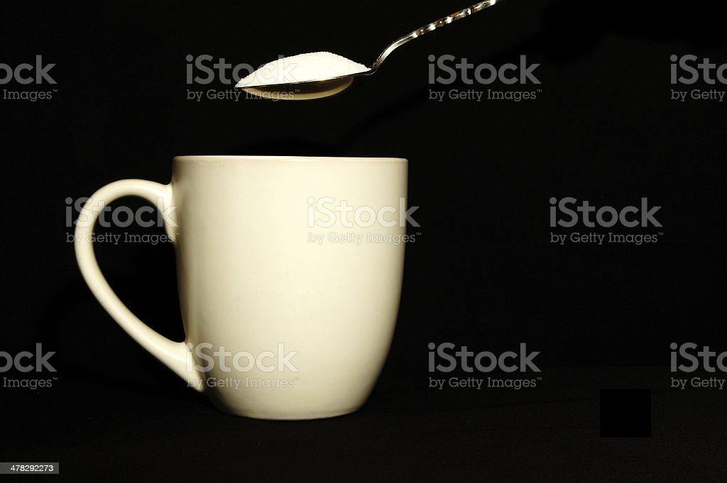 Coffee Mug, Spoon, & Sugar royalty-free stock photo