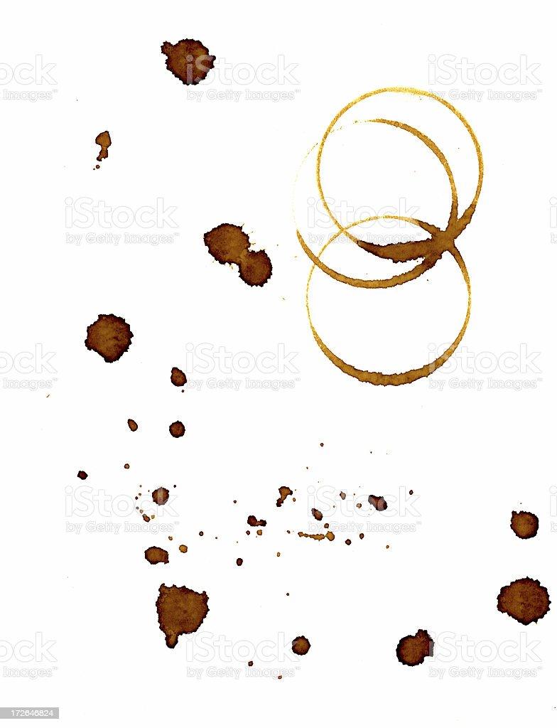Coffee Mug Stains 2 royalty-free stock photo