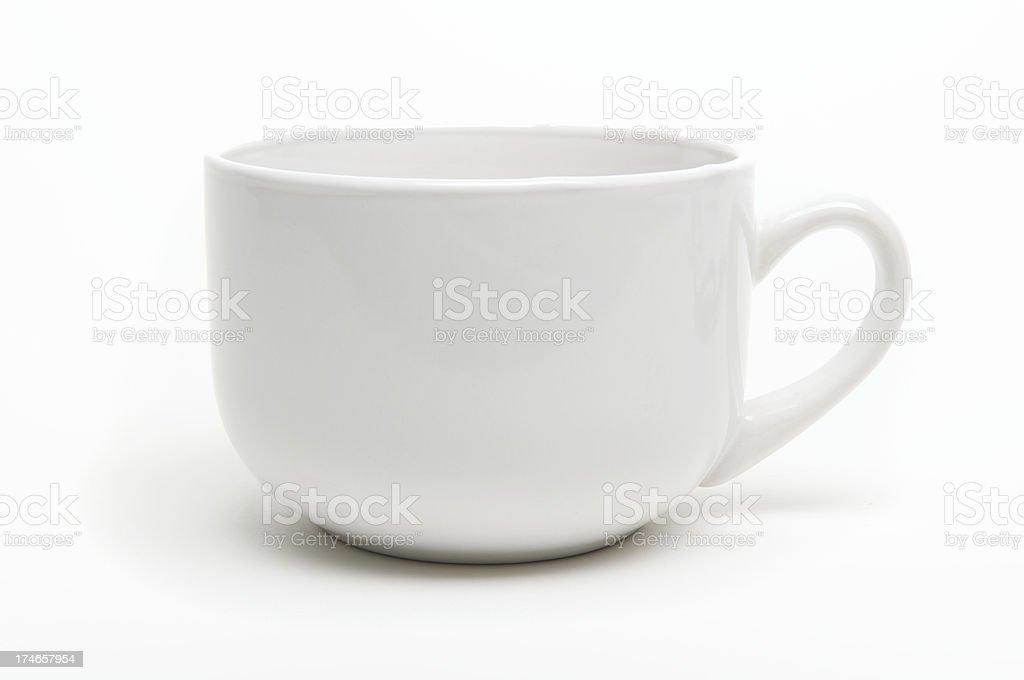 Coffee Mug with Shadow White Background royalty-free stock photo