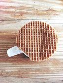 Coffee mug with stroopwafel