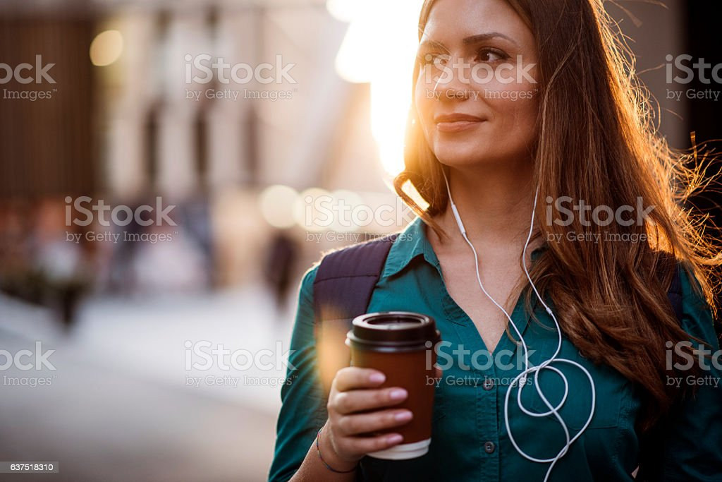 Coffee & music stock photo