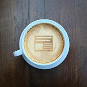 Coffee news creative idea concept