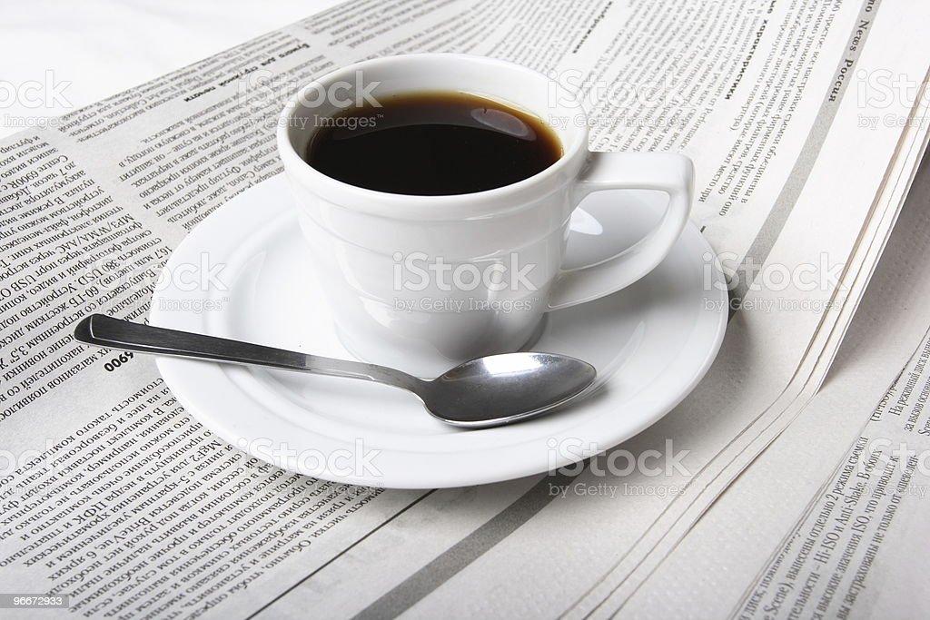 Coffee, news royalty-free stock photo