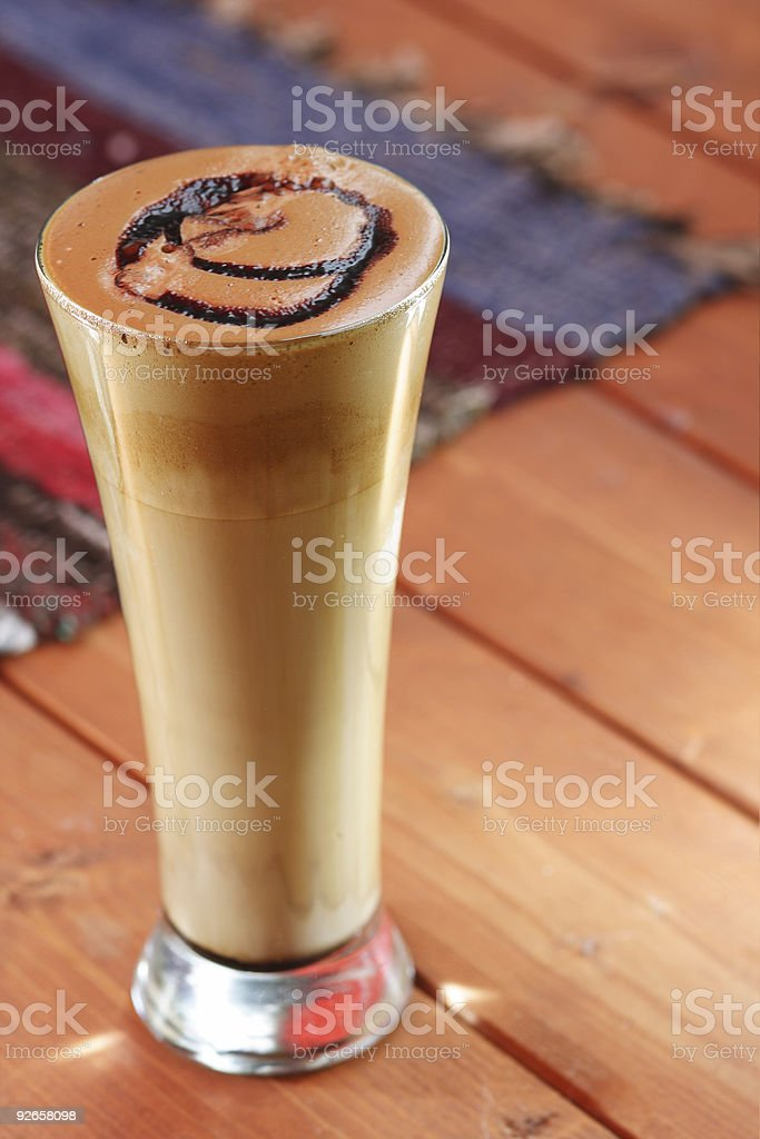 Coffee on a table stock photo