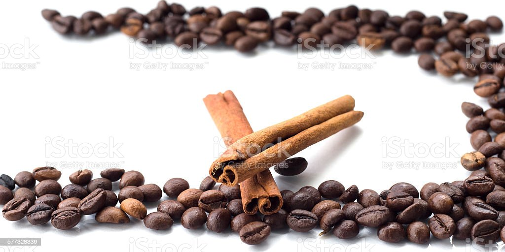 coffee on an isolated white background stock photo