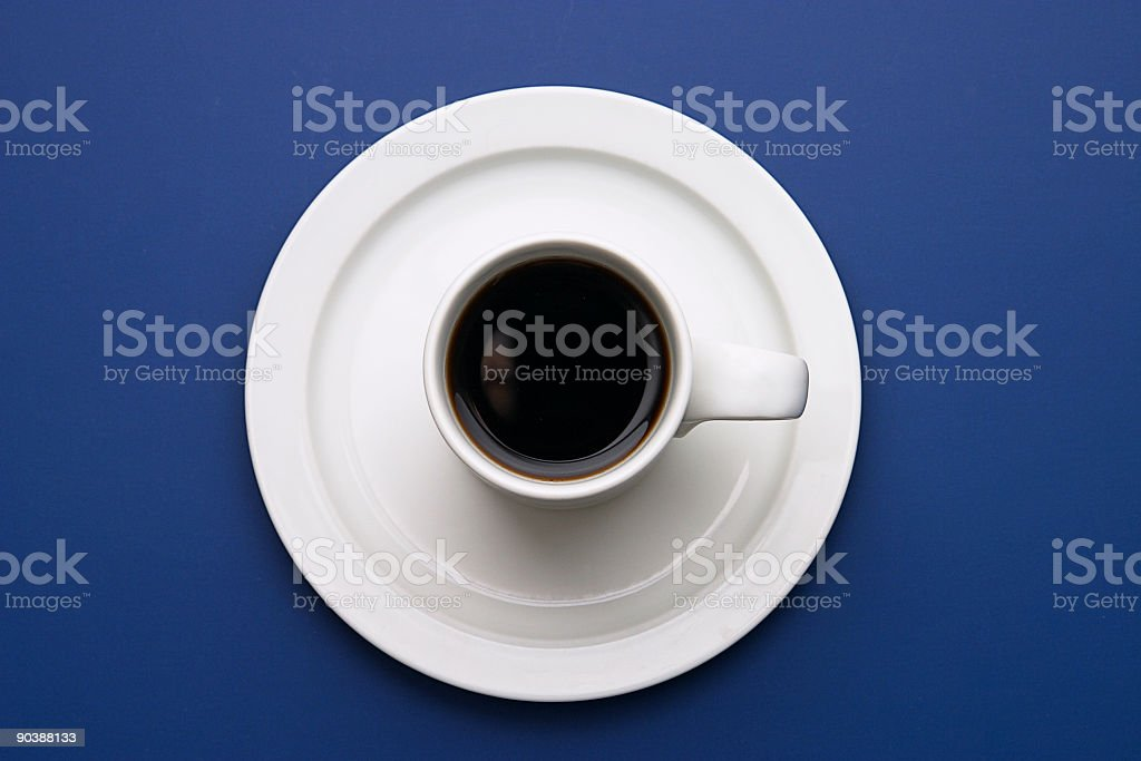 Coffee on Blue royalty-free stock photo