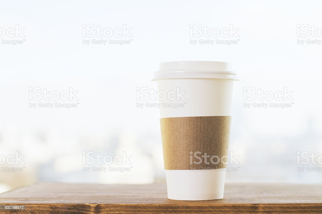 Coffee on blurry background stock photo