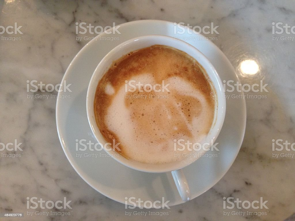 Coffee on granite stock photo