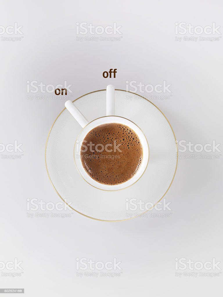 Coffee on off stock photo
