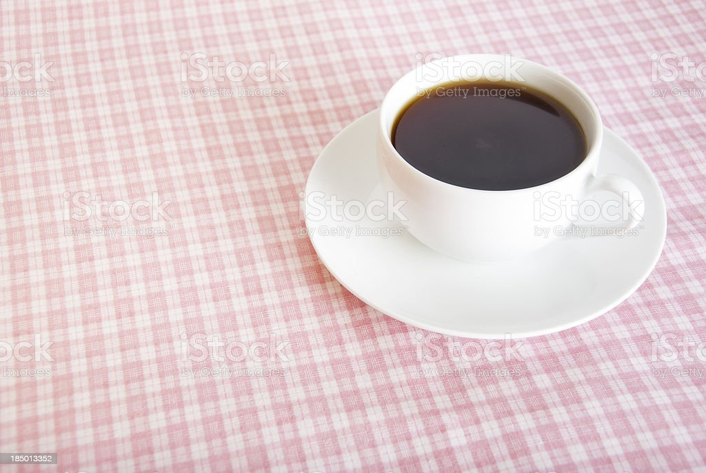 Coffee on Pink stock photo