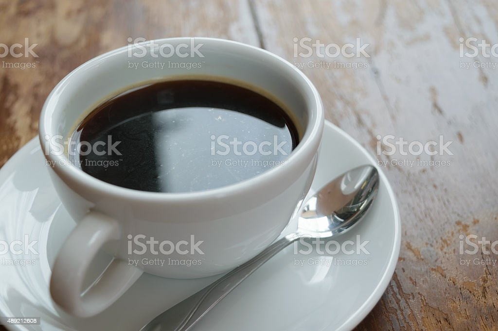 Coffee on table stock photo