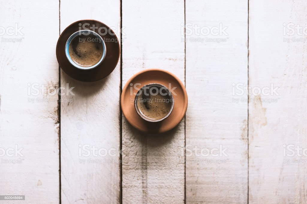 Coffee on the table stock photo