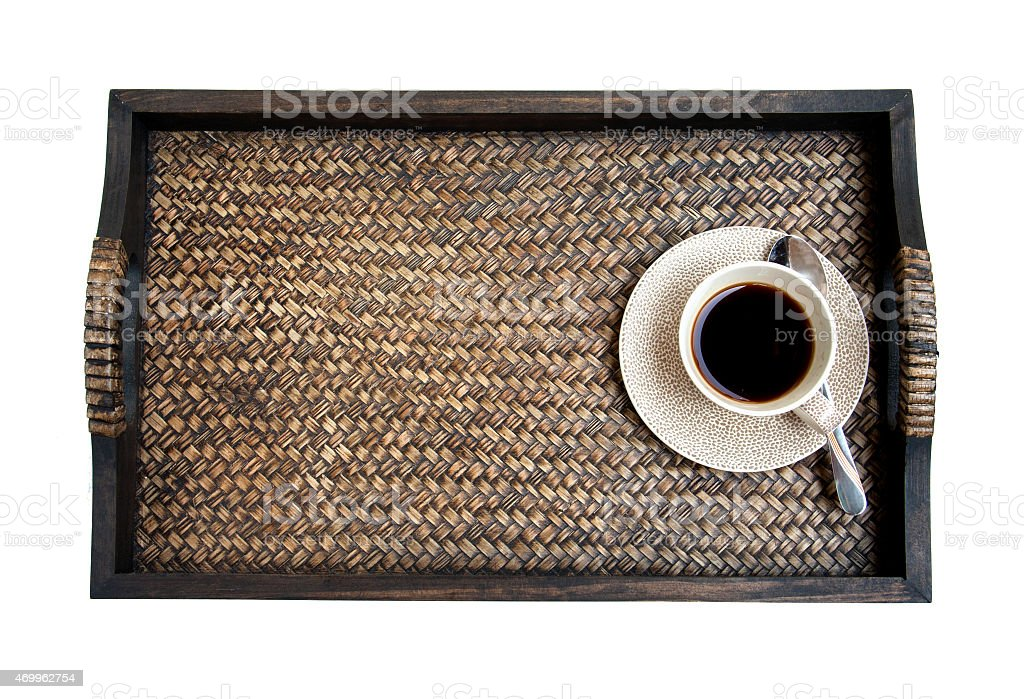 Coffee on the tray white background royalty-free stock photo