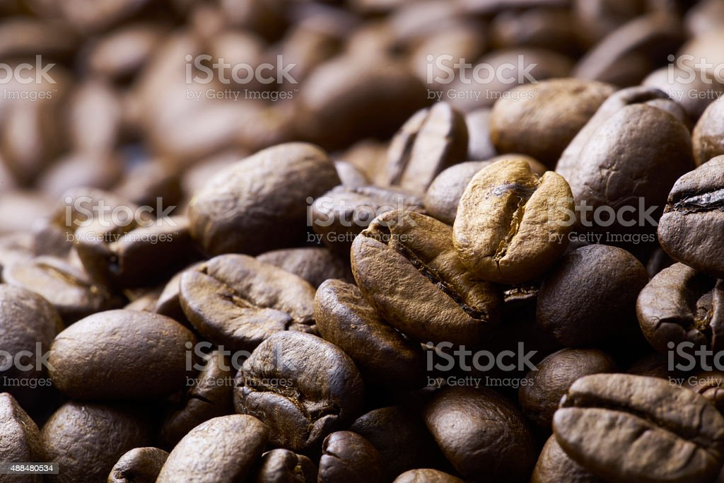 Coffee on wooden background stock photo