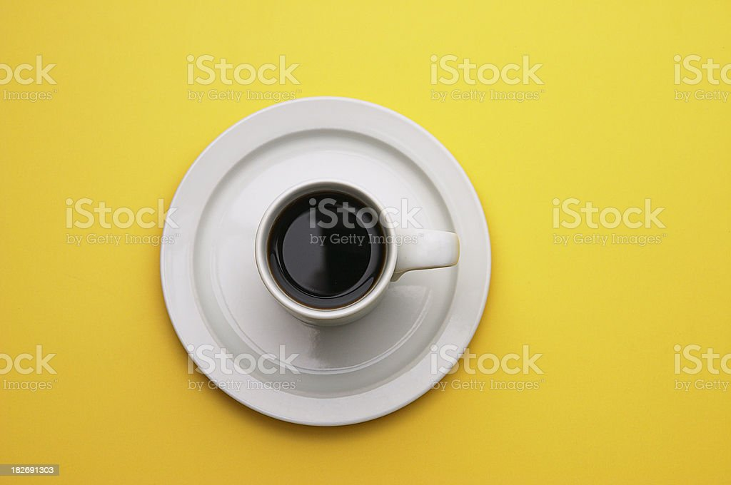 Coffee on Yellow royalty-free stock photo