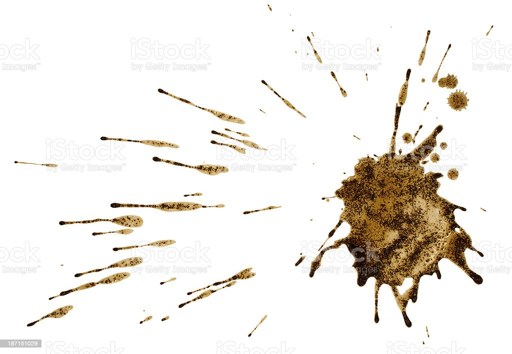 Coffee or mud splash isolated royalty-free stock photo