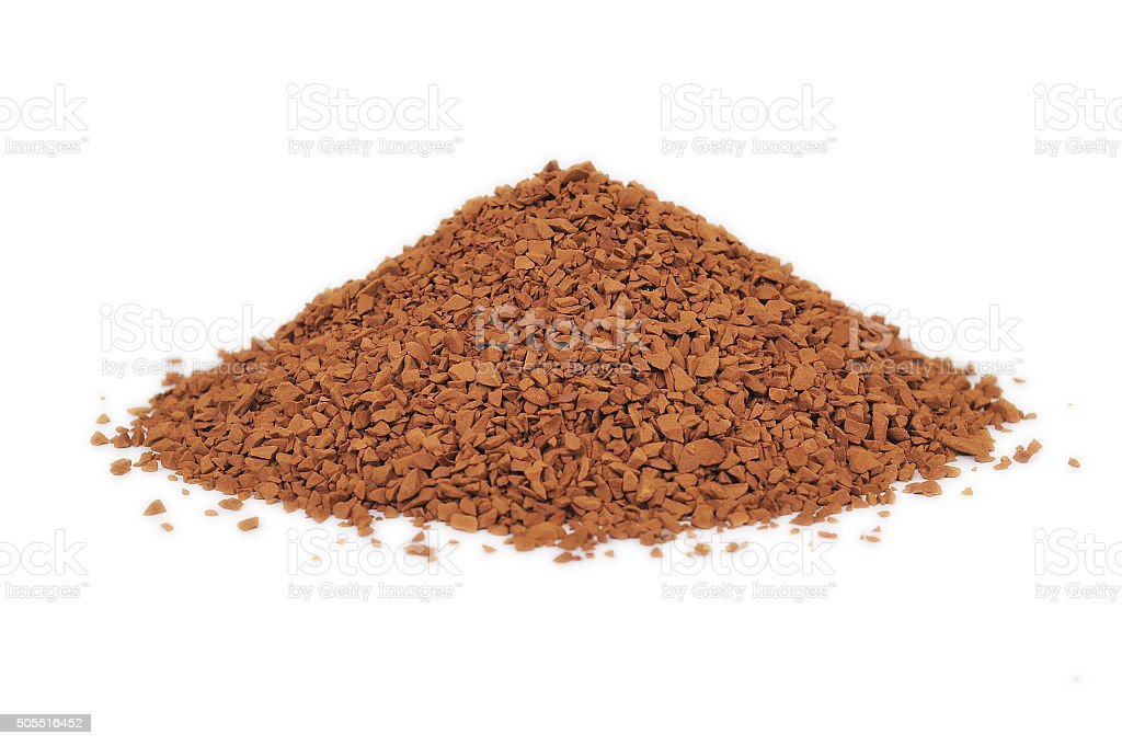 coffee particles on white stock photo