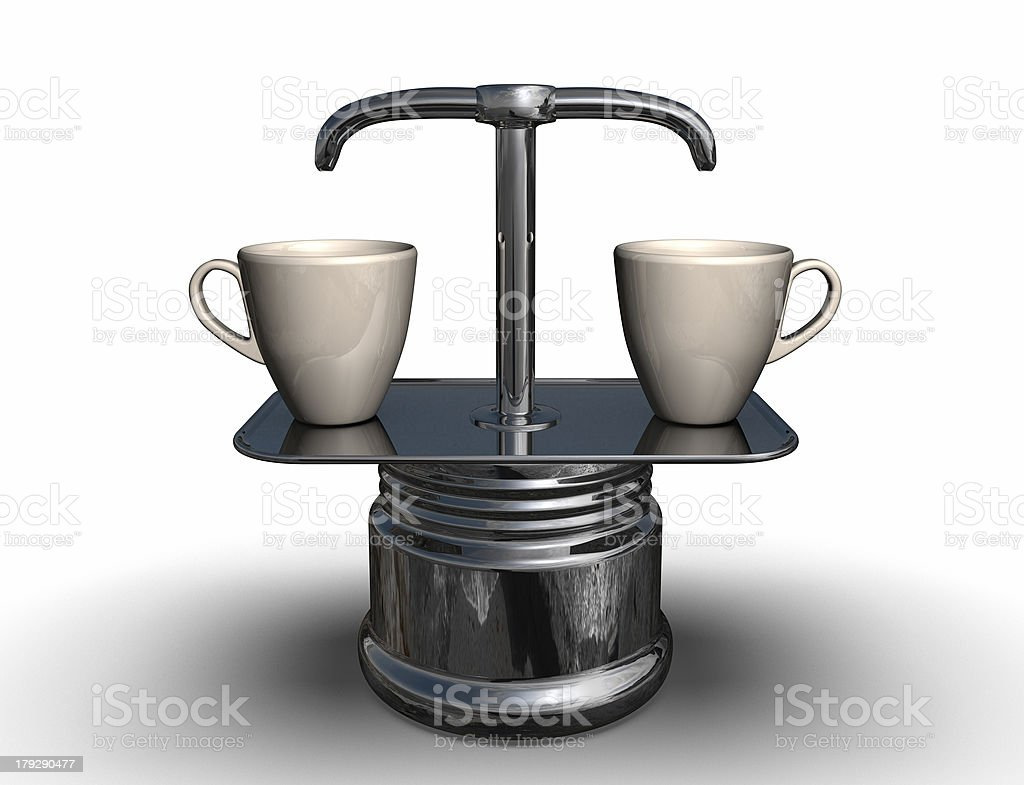 coffee percolator royalty-free stock photo