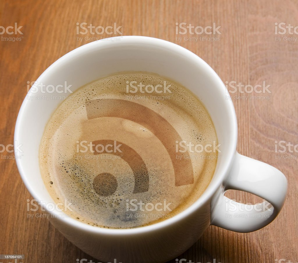 RSS Coffee stock photo