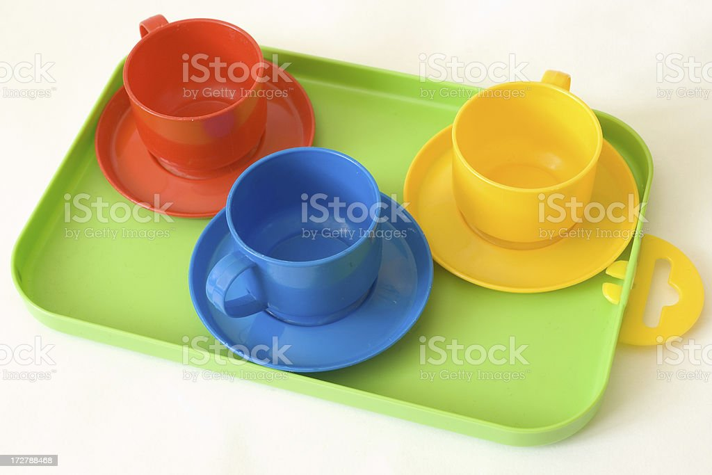 Coffee plate - toys royalty-free stock photo