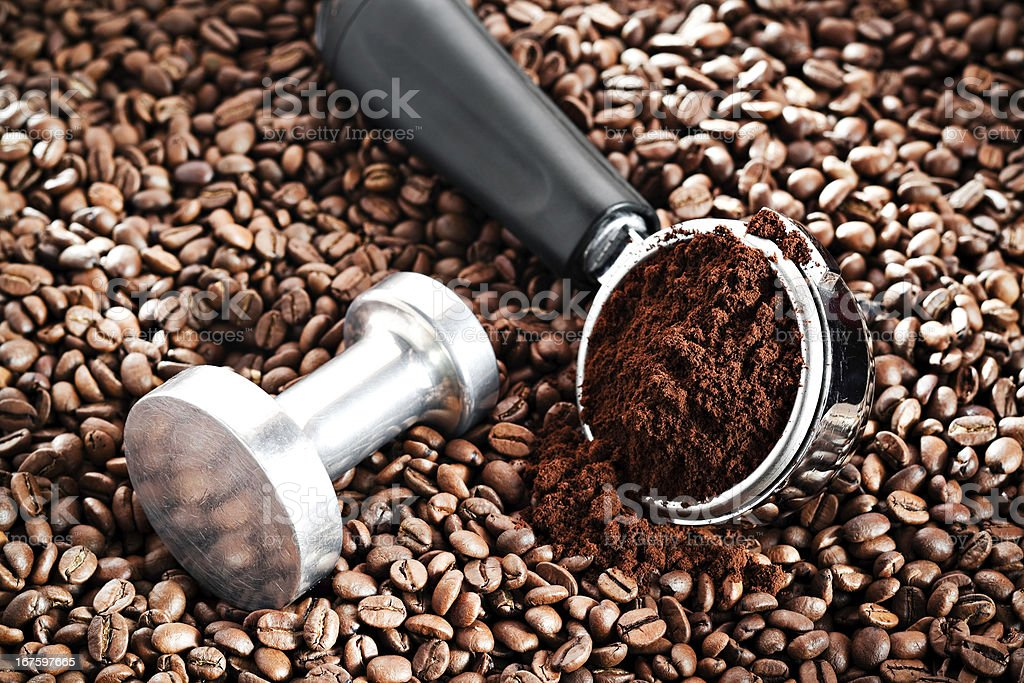 Coffee Portafilter royalty-free stock photo