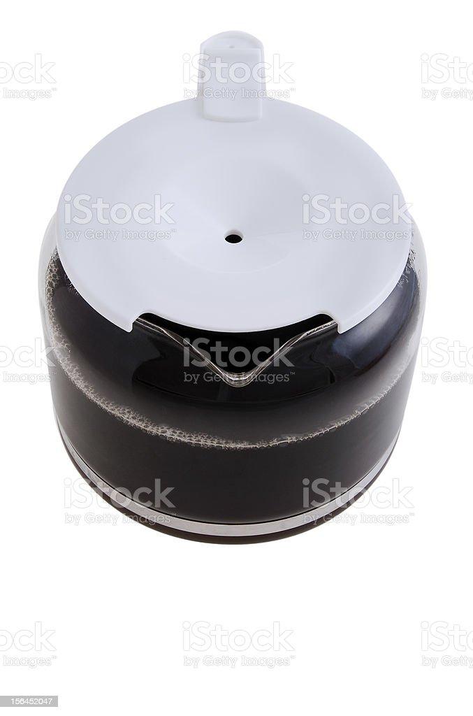 Coffee Pot Overhead royalty-free stock photo