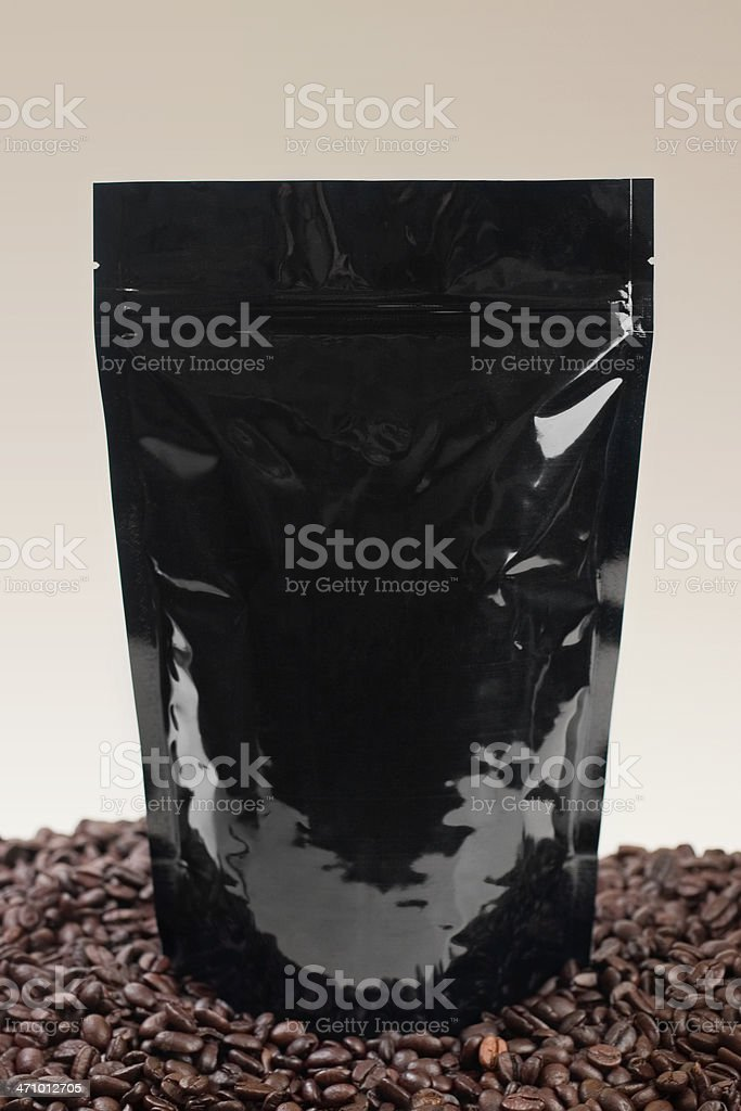 Coffee Pouch Black stock photo