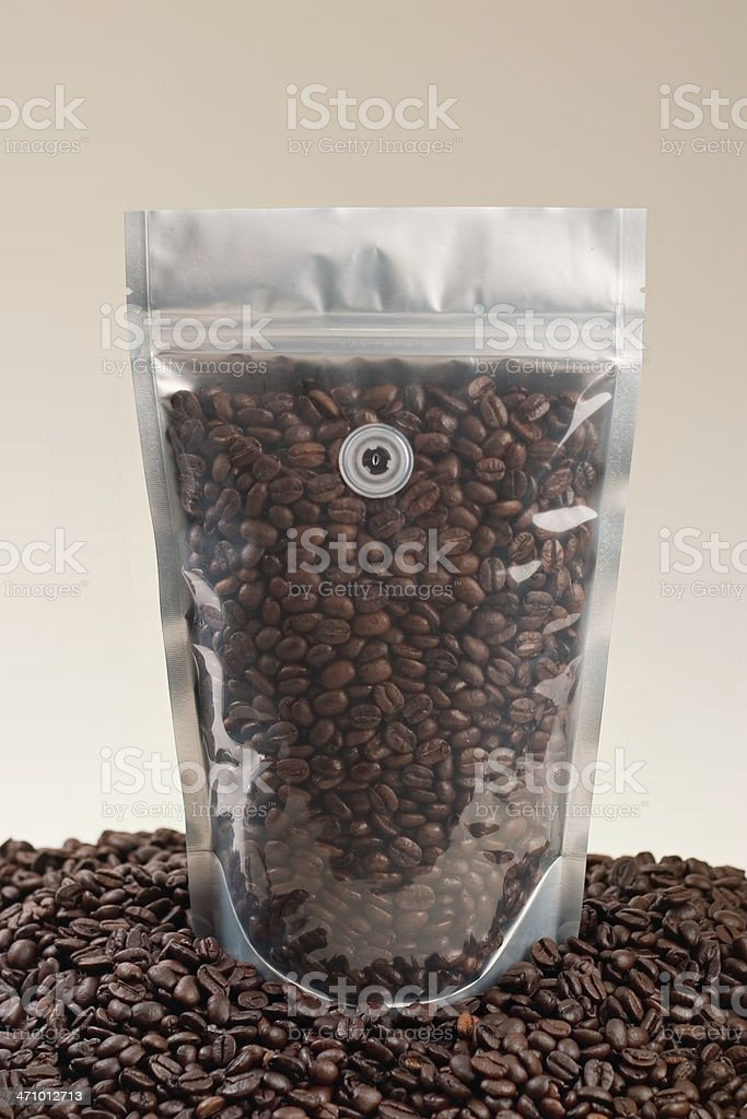 Coffee Pouch Clear stock photo