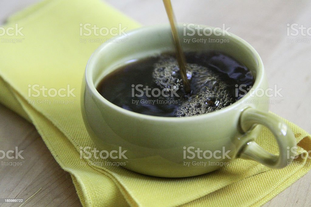 Coffee Pour royalty-free stock photo