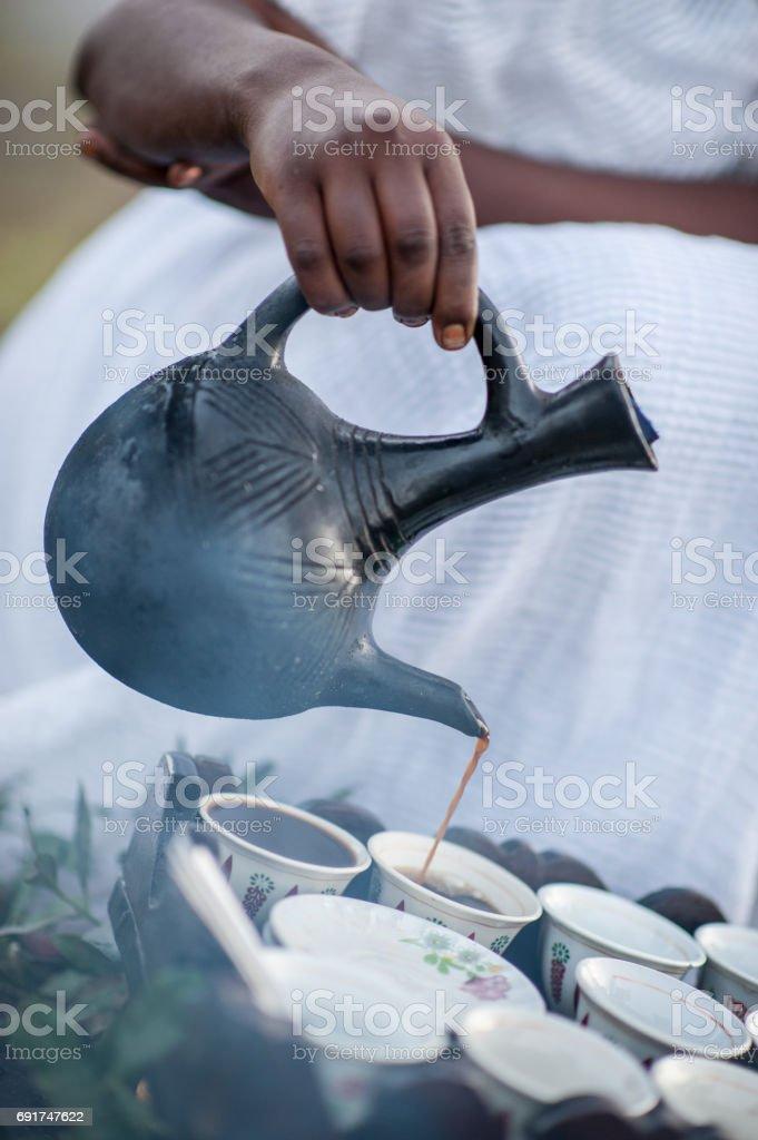 Coffee Pour stock photo