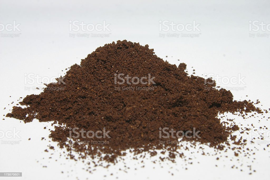 Coffee powder, isolated royalty-free stock photo