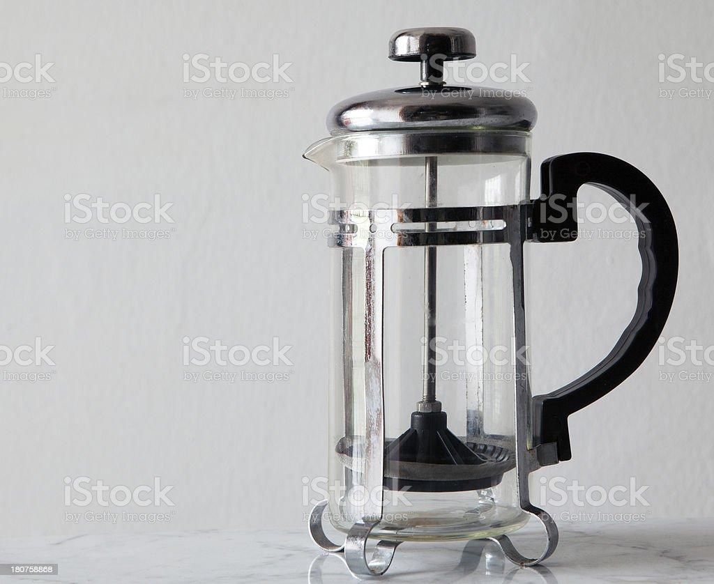 coffee pres stock photo