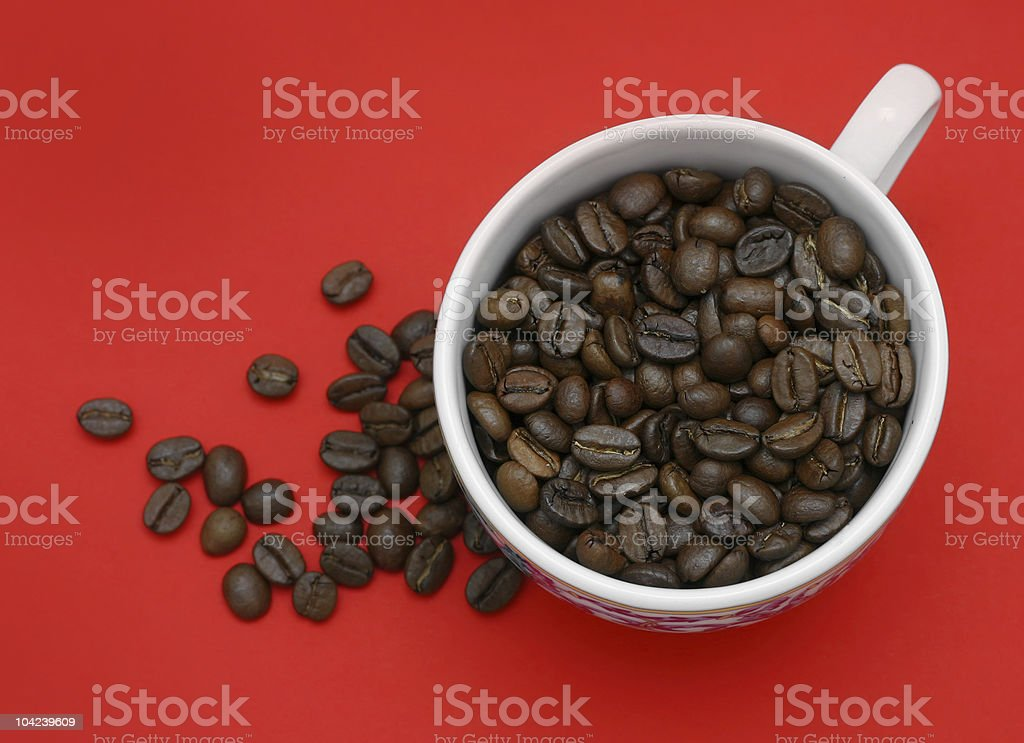 Coffee Red Background royalty-free stock photo