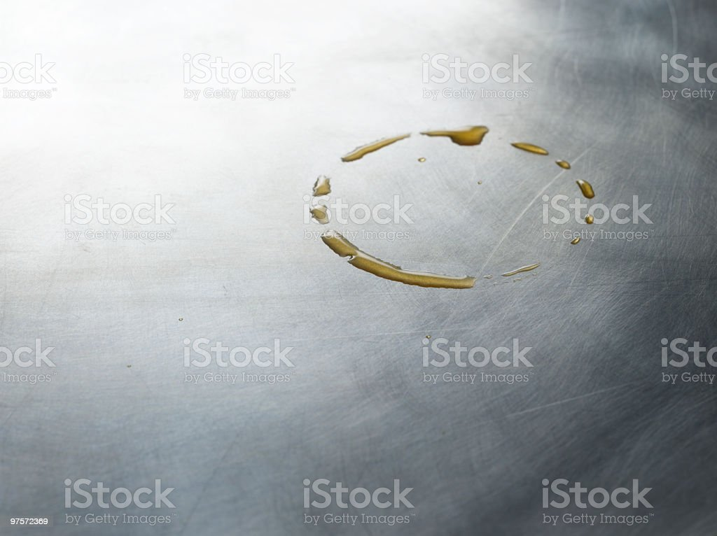Coffee Ring on Metallic Background stock photo