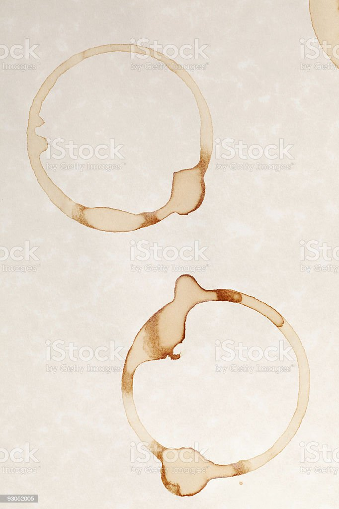 coffee ring stain stock photo