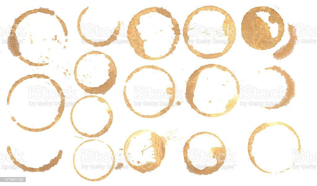 Coffee Rings stock photo