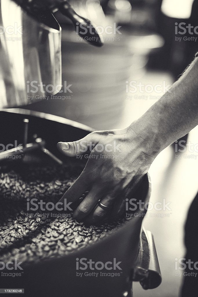 Coffee Roaster in Action stock photo