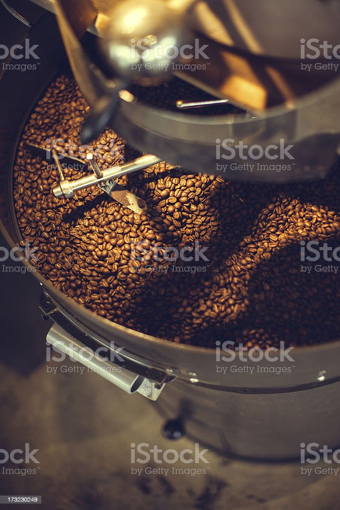 Coffee Roaster in Action royalty-free stock photo