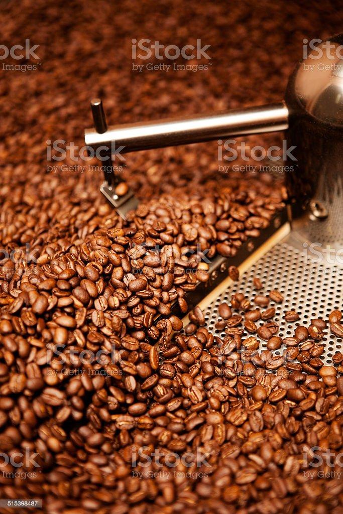 coffee roasting stock photo