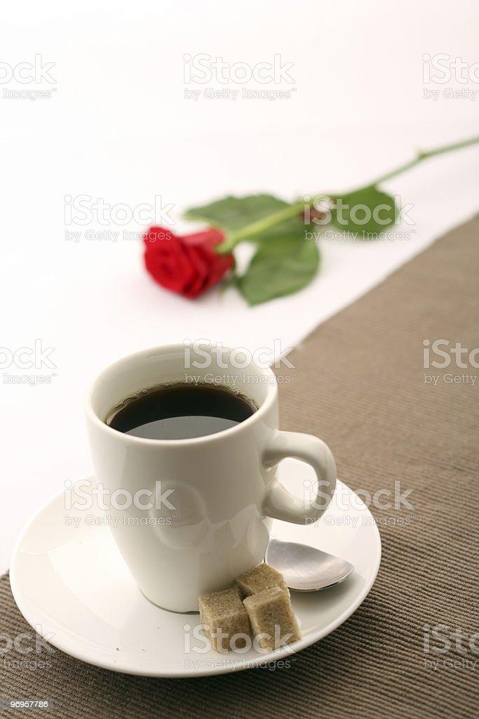 Coffee romance stock photo