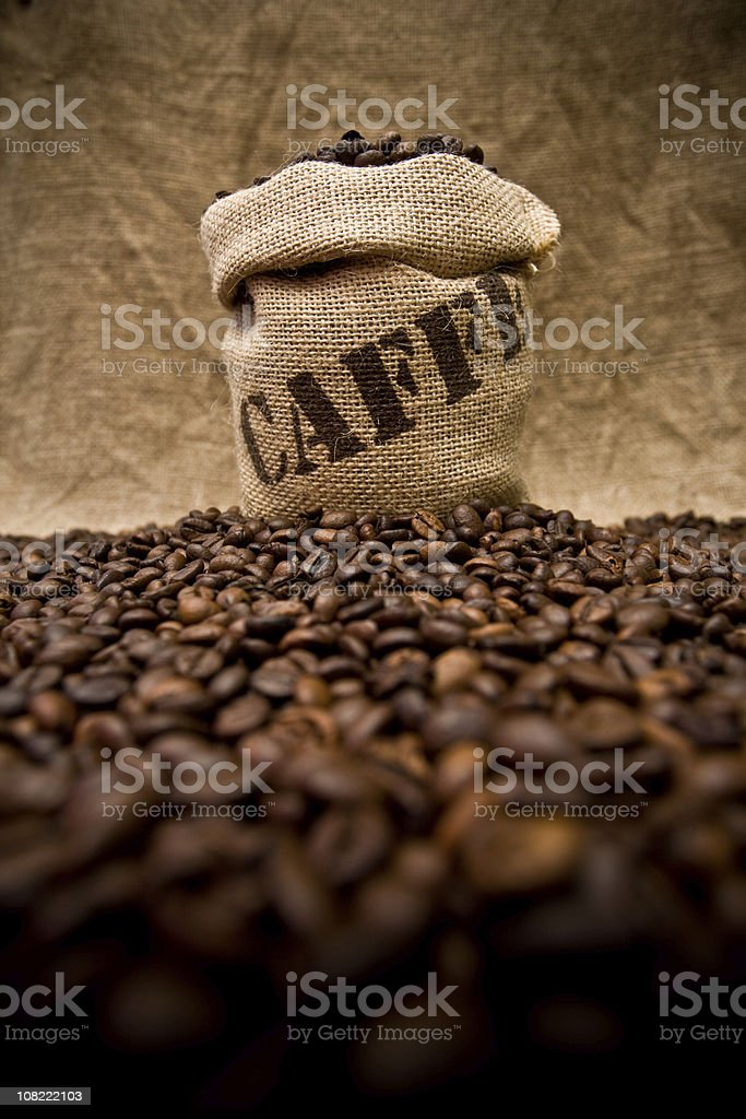 Coffee sack royalty-free stock photo