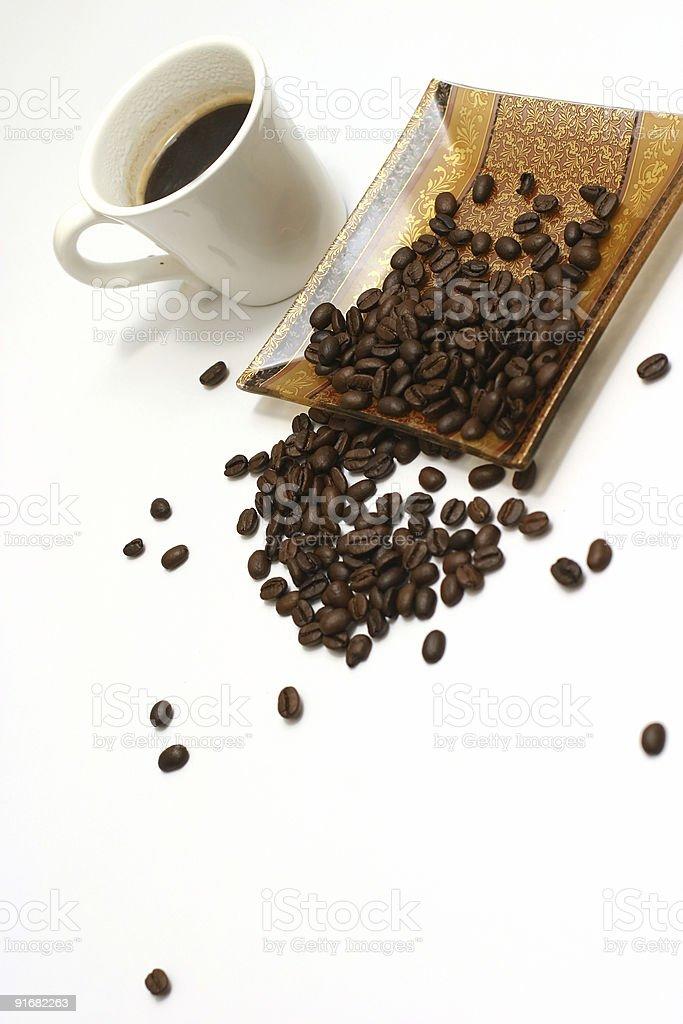 coffee seed with mug royalty-free stock photo